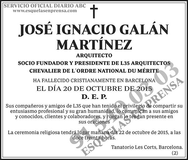 José Ignacio Galán Martínez